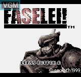Title screen of the game Faselei! on SNK NeoGeo Pocket