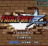 Title screen of the game Fatal Fury F-Contact on SNK NeoGeo Pocket