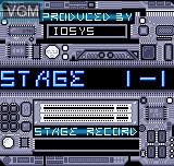 Menu screen of the game Delta Warp on SNK NeoGeo Pocket