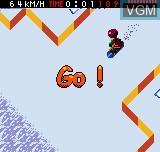Menu screen of the game Cool Boarders Pocket on SNK NeoGeo Pocket