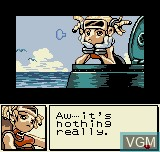 Menu screen of the game Dive Alert - Rebecca Version on SNK NeoGeo Pocket