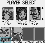 Menu screen of the game Dokodemo Mahjong on SNK NeoGeo Pocket