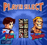 Menu screen of the game Fatal Fury F-Contact on SNK NeoGeo Pocket