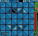 In-game screen of the game Delta Warp on SNK NeoGeo Pocket