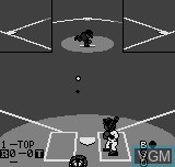 In-game screen of the game Baseball Stars on SNK NeoGeo Pocket