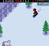In-game screen of the game Cool Boarders Pocket on SNK NeoGeo Pocket