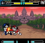 In-game screen of the game Gals Fighters on SNK NeoGeo Pocket