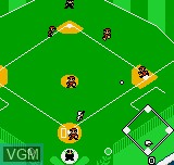 In-game screen of the game Baseball Stars Color on SNK NeoGeo Pocket