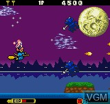 In-game screen of the game Cotton - Fantastic Night Dreams on SNK NeoGeo Pocket
