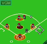 In-game screen of the game Dynamite Slugger on SNK NeoGeo Pocket