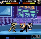 In-game screen of the game Fatal Fury F-Contact on SNK NeoGeo Pocket