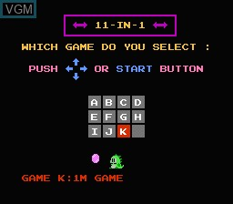Title screen of the game 11-in-1 Ball Games on Nintendo NES
