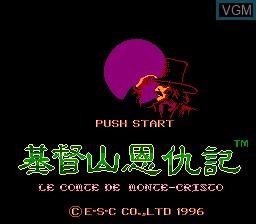 Title screen of the game Ji Du Shan En Chou Ji - Le Comte de Monte-Cristo on Nintendo NES