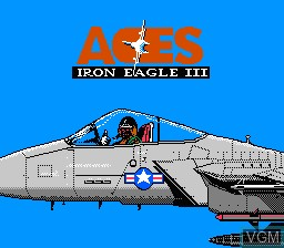 Title screen of the game Aces - Iron Eagle 3 on Nintendo NES