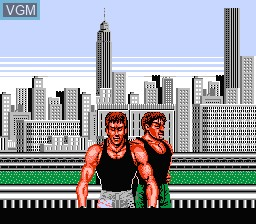 Title screen of the game Bad Dudes Vs Dragon Ninja on Nintendo NES