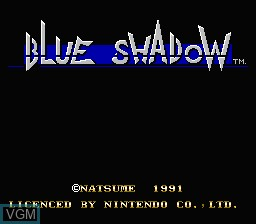 Title screen of the game Blue Shadow on Nintendo NES