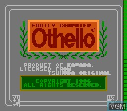 Title screen of the game Family Computer - Othello on Nintendo NES