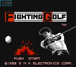 Title screen of the game Fighting Golf on Nintendo NES