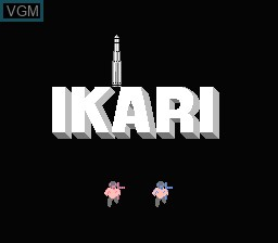 Title screen of the game Ikari on Nintendo NES