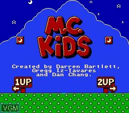 Title screen of the game McDonaldLand on Nintendo NES