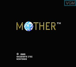 Title screen of the game Mother on Nintendo NES