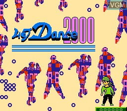 Title screen of the game Hot Dance 2000 on Nintendo NES
