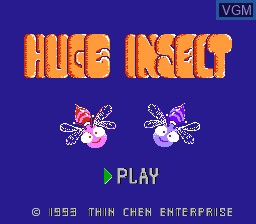 Title screen of the game Huge Insect on Nintendo NES