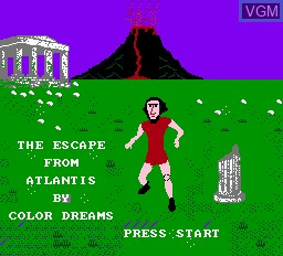 Title screen of the game Escape From Atlantis, The on Nintendo NES
