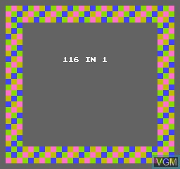 Title screen of the game 116-in-1 on Nintendo NES