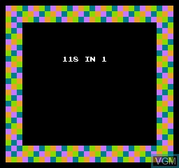 Title screen of the game 118-in-1 on Nintendo NES