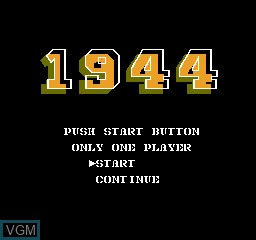 Title screen of the game 1944 on Nintendo NES