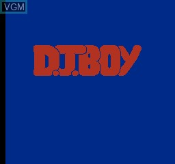 Title screen of the game D.J. Boy on Nintendo NES