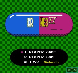 Title screen of the game Dr Web 2 on Nintendo NES