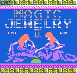Title screen of the game Magic Jewelry 2 on Nintendo NES