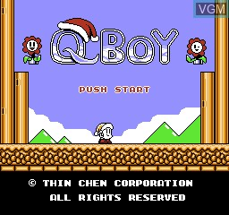 Title screen of the game Q Boy on Nintendo NES