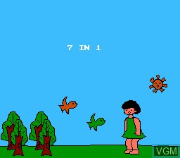 Title screen of the game Famicom Yarou Vol.1 7-in-1 on Nintendo NES