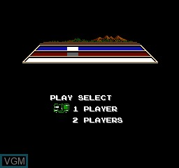 Title screen of the game Forcity on Nintendo NES