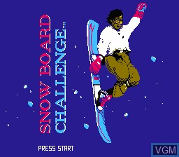Title screen of the game Snowboard Challenge on Nintendo NES