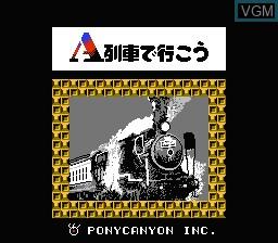 Title screen of the game A Ressha de Ikou on Nintendo NES
