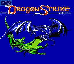 Title screen of the game Advanced Dungeons & Dragons - Dragon Strike on Nintendo NES