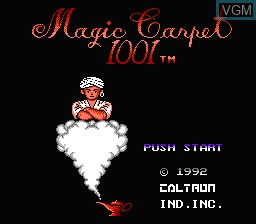 Title screen of the game HES 6-in-1 on Nintendo NES