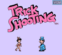 Title screen of the game Barker Bill's Trick Shooting on Nintendo NES