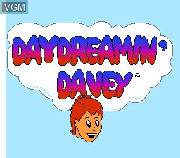 Title screen of the game Day Dreamin' Davey on Nintendo NES