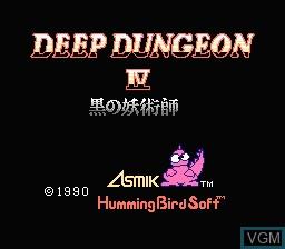 Title screen of the game Deep Dungeon IV - Kuro no Youjutsushi on Nintendo NES