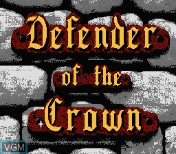 Title screen of the game Defender of the Crown on Nintendo NES