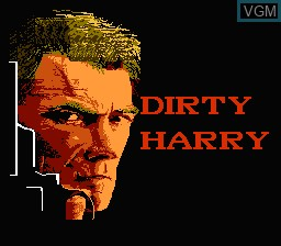 Title screen of the game Dirty Harry - The War Against Drugs on Nintendo NES