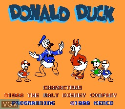 Title screen of the game Donald Duck on Nintendo NES