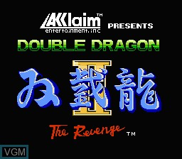 Title screen of the game Double Dragon II - The Revenge on Nintendo NES