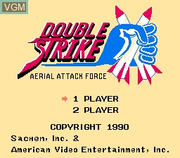 Title screen of the game Double Strike on Nintendo NES