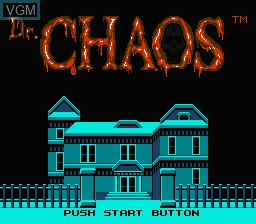 Title screen of the game Dr. Chaos on Nintendo NES